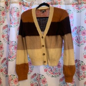 Boho Striped Cardigan Sweater